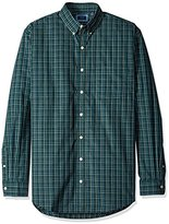 Arrow Men's Big and Tall Long Sleeve Hamilton Poplin Multi Gingham Shirt
