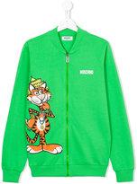 Moschino Kids tiger zipped up sweatshirt
