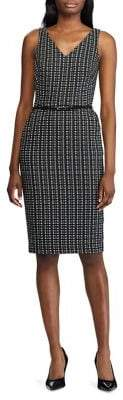 Lauren Ralph Lauren Plaid Jacquard Sheath Dress