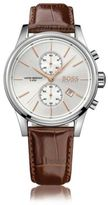 HUGO BOSS 1513280 Chronograph Leather Strap Quartz Watch One Size Assorted-Pre-Pack