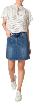 Skin and Threads Denim Panel Skirt