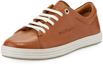Salvatore Ferragamo Men's Leather Lace-Up Sneakers