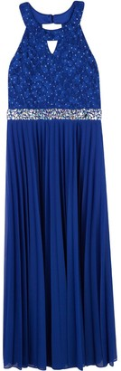 Speechless Girls 7-16 High-Neck Keyhole Pleated Maxi Dress
