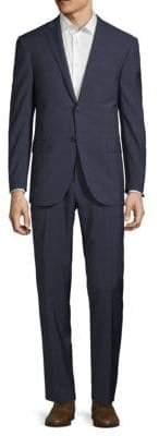Corneliani Windowpane Wool Suit