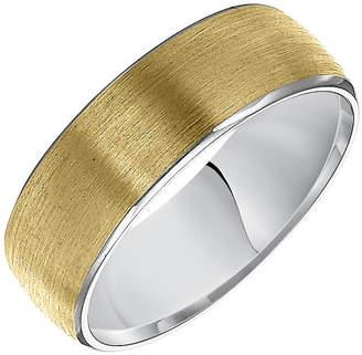 MODERN BRIDE Unisex Adult 7MM 14K Two Tone Gold Wedding Band