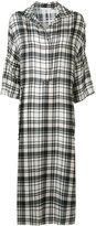 Victor Alfaro - plaid midi shirt dress - women - Silk - 8
