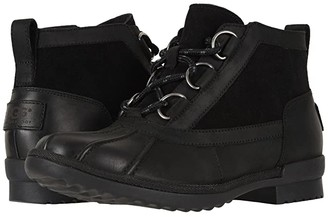UGG Heather Boot (Black) Women's Lace-up Boots