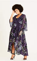 City Chic Burgundy Lily Maxi Dress