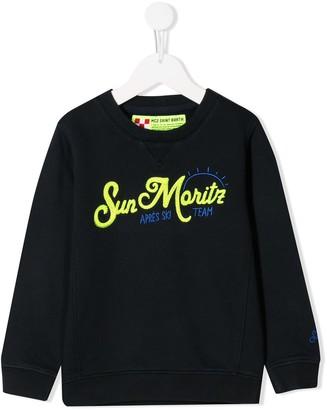 MC2 Saint Barth Kids slogan sweatshirt