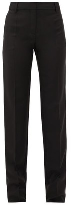 Valentino Tailored Wool-blend Trousers - Black