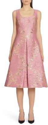 Dolce & Gabbana Metallic Brocade Midi Dress