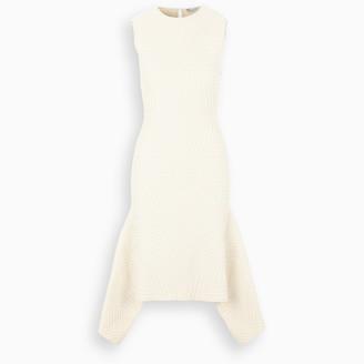 Alexander McQueen White textured dress