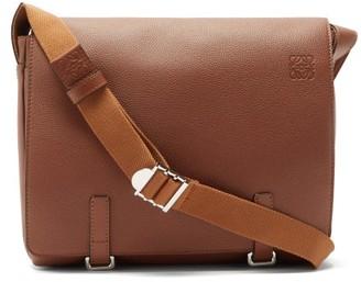 Loewe Military Leather Messenger Bag - Tan