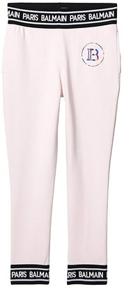 Balmain Kids Sweatpants w/ Banding On Waist and Hem (Big Kids) (Light Pink) Kid's Casual Pants