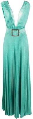 Elisabetta Franchi Belted Maxi Dress