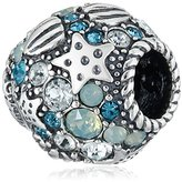 Swarovski Chamilia Sterling Silver and Crystal Buried Treasure Bead Charm