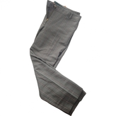Tory Burch Grey Cotton Trousers