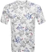 Armani Exchange Palm Print T Shirt White
