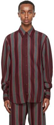 Wales Bonner Red and Grey Isaac Shirt