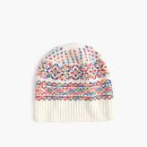 J.Crew Wool hat in colorful Fair Isle