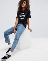 Asos Design DESIGN Recycled Florence authentic straight leg jeans in mindy vintage blue wash
