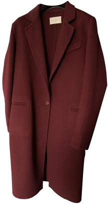 Sandro Fall Winter 2018 Burgundy Wool Coats