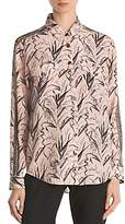 The Kooples Bead-Embellished Printed Silk Shirt