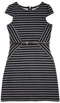 Us Angels Girls' Asymmetric Striped Dress - Sizes 7-16
