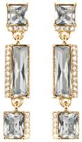 Vince Camuto Pave & Faceted Crystal Linear Drop Earrings