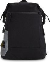 Stone Island Black Comfortable Panama Nylon Canvas Backpack