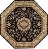 Nourison Octagon Area Rug, Wool & Silk 2000 2028 Black 10'