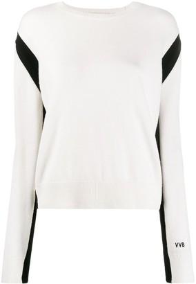 Victoria Victoria Beckham crew-neck slit-back jumper