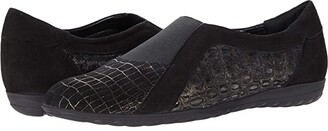 Sesto Meucci Berty (Black Harmony/Black Suede) Women's Shoes