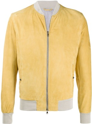 Barba Fitted Bomber Jacket