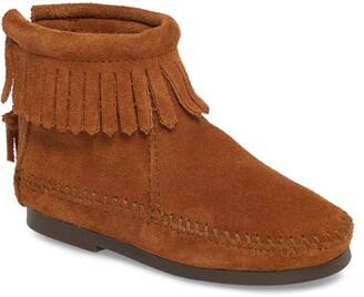 Minnetonka Back Zip Boot
