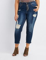 Charlotte Russe Plus Size Dollhouse Destroyed Skinny Jeans