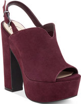 Jessica Simpson Rel Slingback Block-Heel Platform Sandals