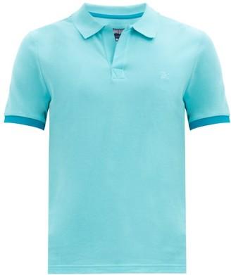 Vilebrequin Palatin Two-tone Cotton-pique Polo Shirt - Light Blue