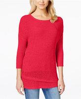 Calvin Klein Jeans Crew-Neck Three-Quarter-Sleeve Sweater
