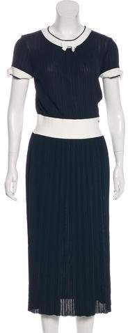Chanel Pleated Knit Dress