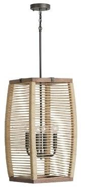 Loon Peakâ® Marva 4 - Light Lantern Geometric Pendant Loon PeakA