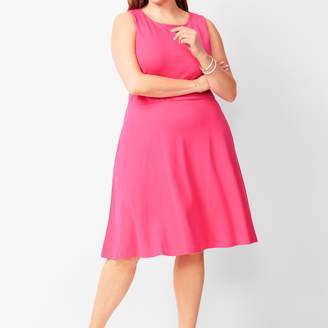 Talbots Edie Knit Fit & Flare Dress - Solid