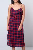 Lush Plaid Slip Dress