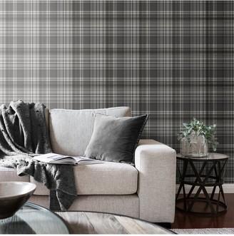 Kelso Check Wallpaper Grey/Silver