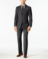 Tommy Hilfiger Men's Slim-Fit Charcoal Windowpane Stretch Performance Suit