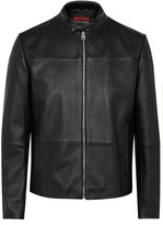 Hugo Lefox Black Leather Jacket