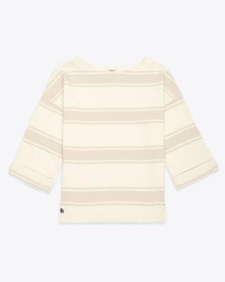 Bellerose Masta Stripe Sweat Top - Size 1(10) / Pink - Pink/Blue/White