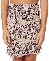 MinkPink Wild Ones Bias Cut Womens Mini Skirt