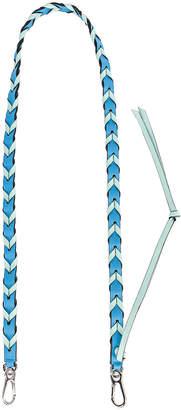 Loewe Braided Thin Strap in Sky Blue & Mint | FWRD