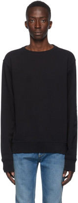 Maison Margiela Black Elbow Patch Crewneck Sweatshirt